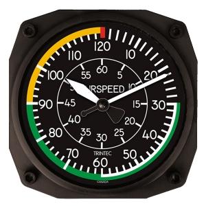 GA.010b Wanduhr im Cockpit-Design Airspeed