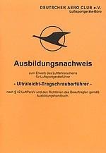 AW.005 Ausbildungsnachweis UL-Tragschrauber