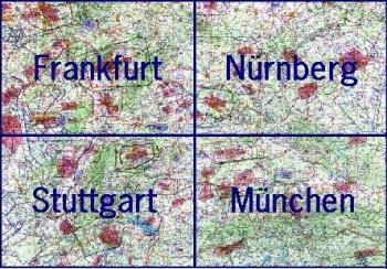 13500.2 ICAO-Wandkarte Deutschland Blatt Süd 2021