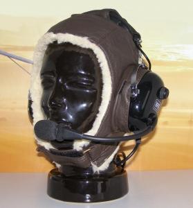 T.042 Headset-Lederhaube Winter
