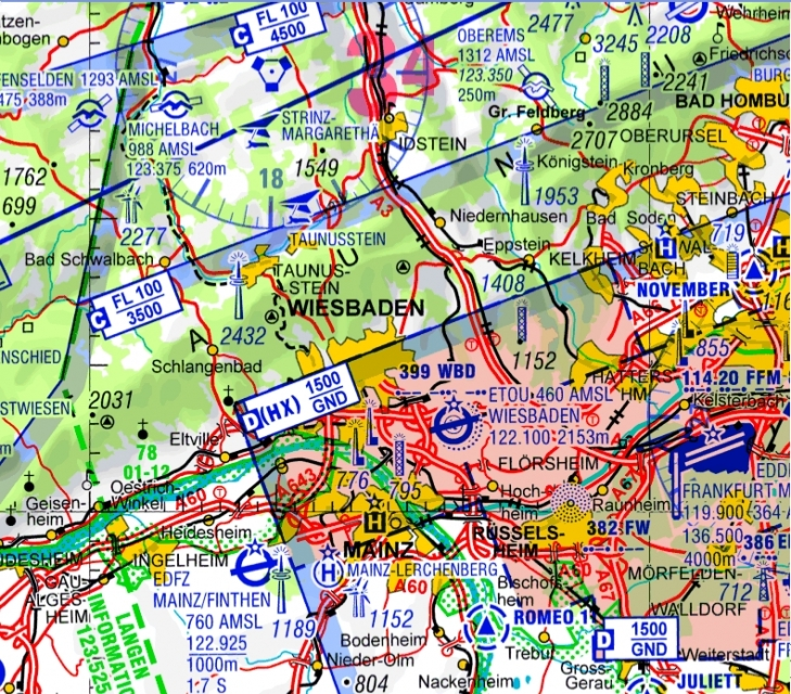 Digitalisierte Icao Karten Deutschland