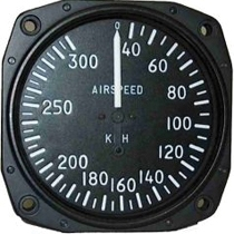 FM.001.1-FM.001.11 Fahrtmesser Falcon Gauge ASI