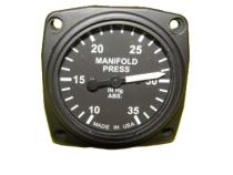 FG.013 Manifold Pressure Gauge/Ladedruckanzeige 10-35 IN.HG 57mm Einbaum.