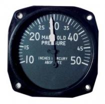 FG.014 Manifold Pressure Gauge/Ladedruckanzeige 10-50 IN.HG 57mm Einbaum.