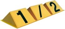 W.025 Halbbahnmarkierung gelb/schwarz.