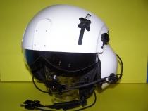 PH.006 Helikopter Helm Doppelvisier, Farbe weiß