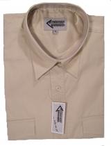 T.089 Piloten-Hemd beige kurzarm