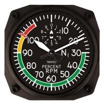 GA.010h Wanduhr im Cockpit-Design RPM