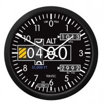GA.013b Wanduhr rund im Cockpit-Design Altimeter