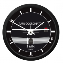 GA.013c Wanduhr rund im Cockpit-Design Turn and Bank