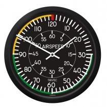 GA.013e Wanduhr rund im Cockpit-Design Airspeed