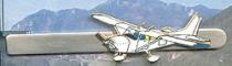 P.004d Krawattennadel Cessna nickelfarben