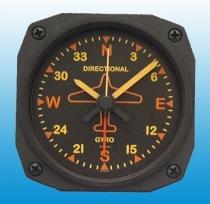 GA.011.1a Tischuhr mit Weckfunktion Kreiselkompass Vintage