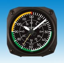 GA.011f Tischuhr mit Weckfunktion Airspeed Indicator