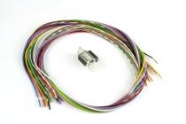 EF.030 D-SUB HD15 Stecker mit 15 Stück gecrimpten Leitungen