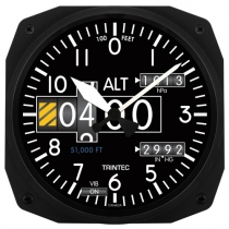 GA.014a Wanduhr im Cockpit-Design Altimeter groß