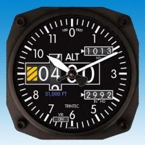 GA.010ee Wanduhr im Cockpit-Design Höhenmesser