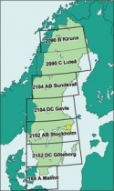 ICAO-ES Digitalisierte ICAO-Karten Schweden komplett