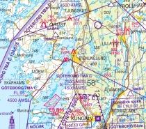 ICAO-ESS Digitalisierte ICAO-Karten Schweden Süd