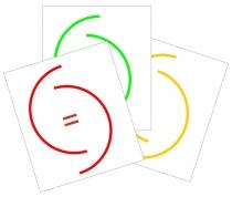 FM.013c Farbmarkierung für Temperaturanzeige 57mm Einbaumaß