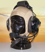 T.044.1 Headset-Stoffhaube mit Lederapplikationen