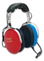 H.023.1 PILOT Kinder-Headset P-51C rot/blau