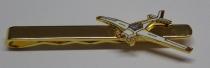 13i Krawatten-Nadel Motorsegler goldfarben