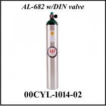 SFL.008 AL-682 Sauerstoff-Flasche Aluminium DIN 477 mit Manometer