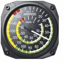 GA.014e Thermometer im Cockpit-Design Airspeed groß