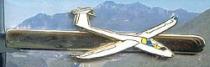 P.001d Krawattennadel Segelflugzeug nickelfarben