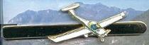 P.002c Krawattennadel Motorsegler goldfarben