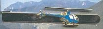 P.005d Krawattennadel Helikopter nickelfarben