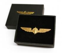 Pin Nr.6 Piloten Schwinge Pilot Wings gold, große Ausf.