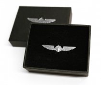 Pin Nr.9 Piloten Schwinge Pilot Wings silber, medium