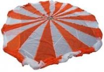 D.001 Zweifarben-Fallschirm orange/weiß