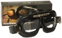 SB.021 Oldtimer-Brille Google schwarz