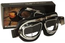 SB.022 Oldtimer-Brille Goggle silber