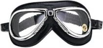 SB.023 Oldtimer-Brille Aviator Climax 500, verchromter Rahmen