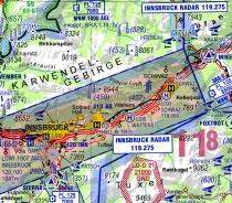 V500-AT Digitalisierte Karte DFS Visual 500 Österreich
