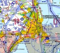 V500-EK Digitalisierte Karte DFS VFR 500 Dänemark